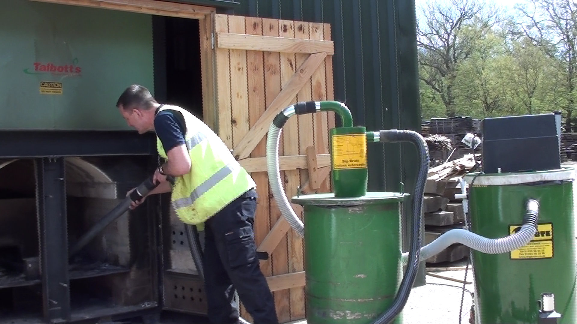 Cleaning Out Biomass Boilers with a Big Brute