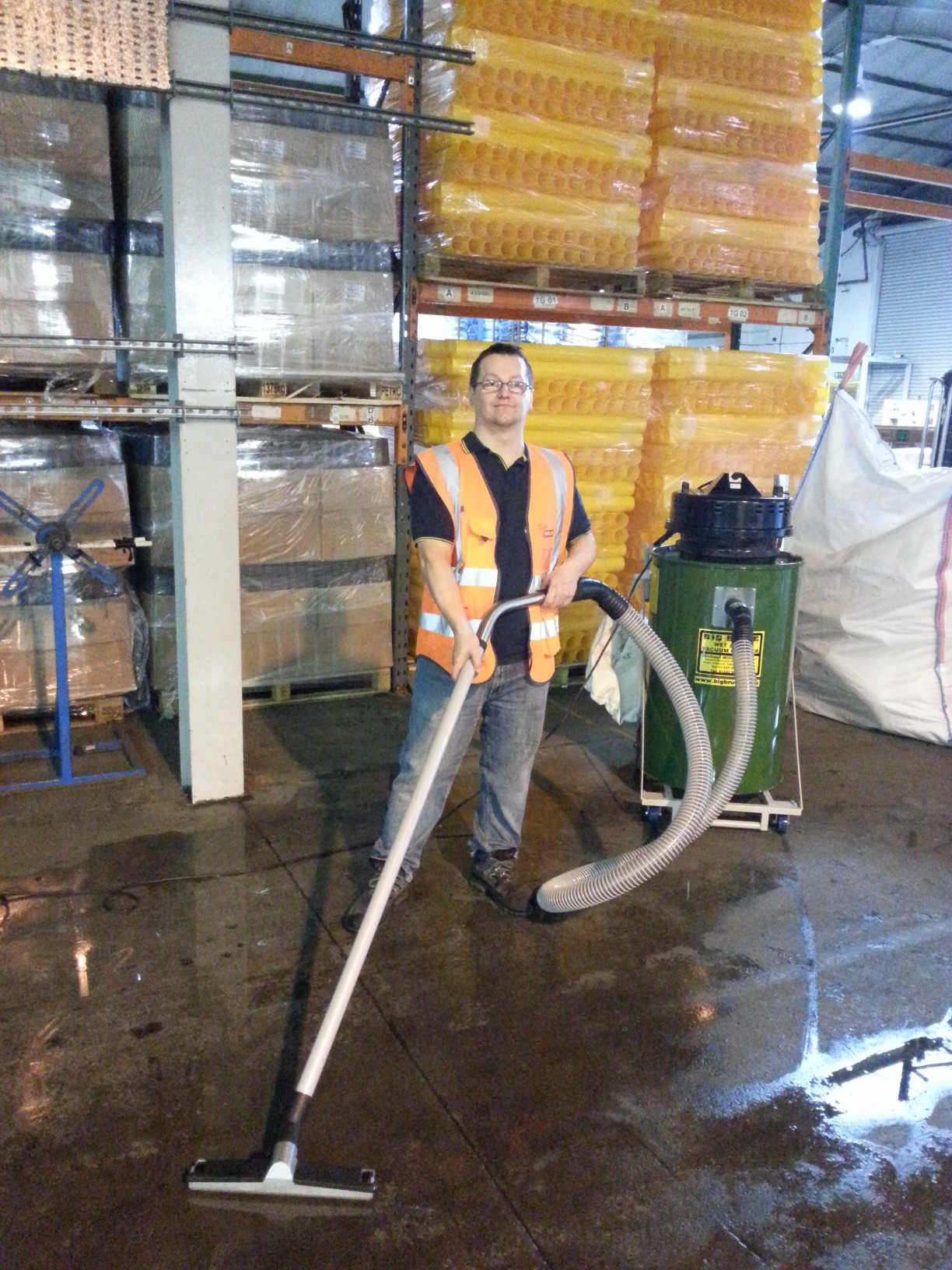 Naylor Specialist Plastics Are Cleaning Up With A Big Brute Wet And Dry Industrial Vacuum Cleaner