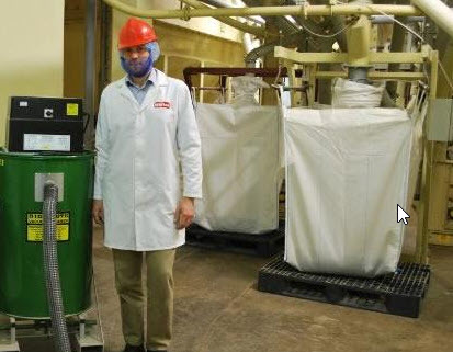 James Mathers, Operations Manager at White's Oats with their Big Brute Industrial Vacuum Cleaner