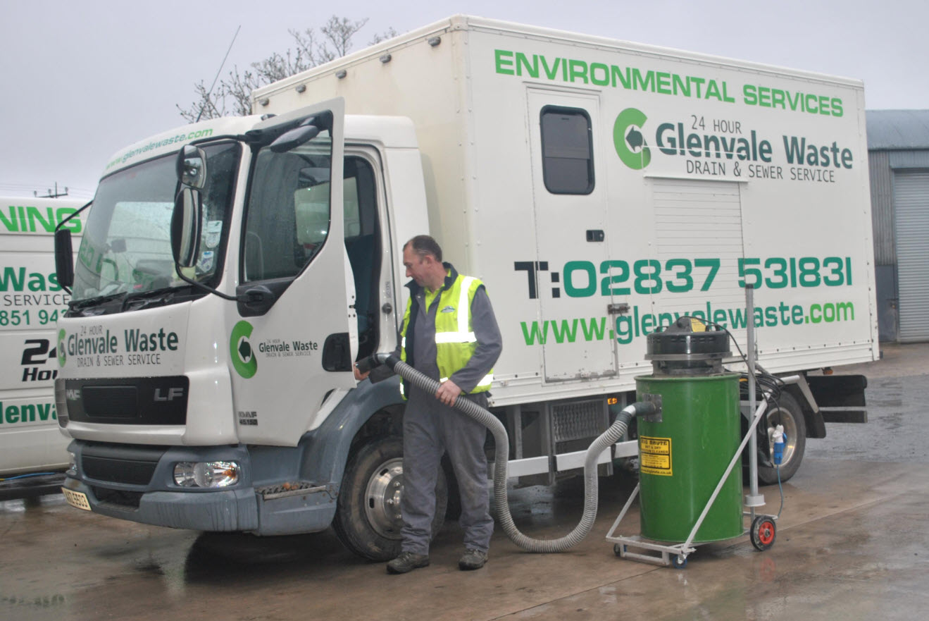 Pat Hughes, Managing Director of Glenvale Waste, Madden, with his Big Brute Wet & Dry Industrial Vacuum Cleaner